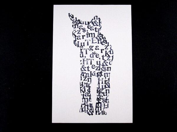 Typo-Grafik Katze von renna deluxe