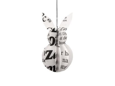 oster hase in schwarz weiß mit Buchstaben von renna deluxe