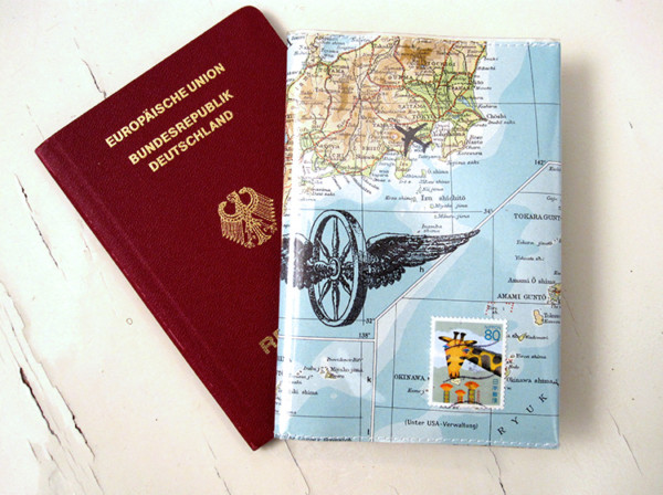 Reisepass-hülle-atlas-weltkarte
