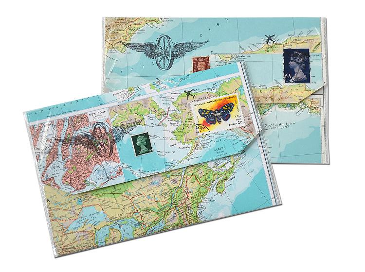 Reiseetui aus atlas fuer ticket reisepass vintage weltkarte atlas von renna deluxe