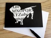 Dackel Klappkarte grusskarte von renna deluxe vintage papier