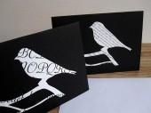 Vogel Klappkarte grusskarte von renna deluxe vintage papier