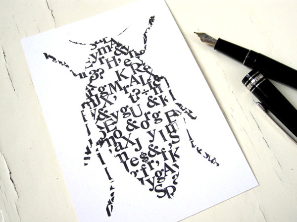 Käfer Postkarte typo buchstaben renna deluxe