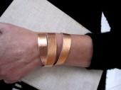 Kupfer Winkelband armband von renna deluxe