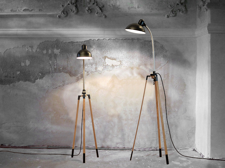 stativ 70 lampengestell aus eiche renna deluxe. Black Bedroom Furniture Sets. Home Design Ideas