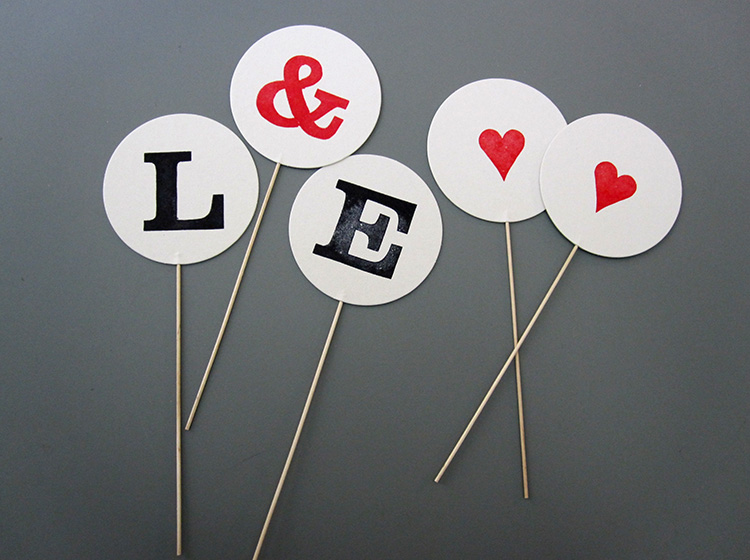 letter cake topper by renna deluxe