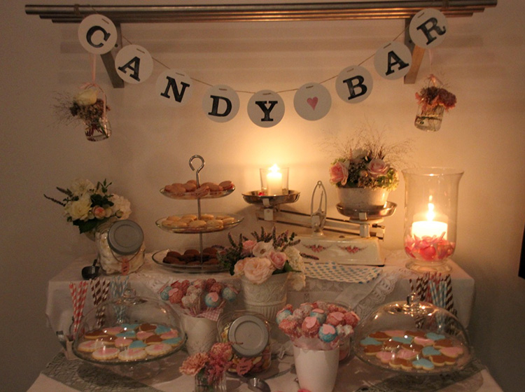 Candy bar girlande garland sweet table renna deluxe