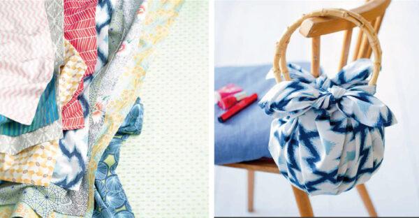 furoshiki japanische Tasche aus Stoffquadrat anleitungen zum Knoten von christiane huebner