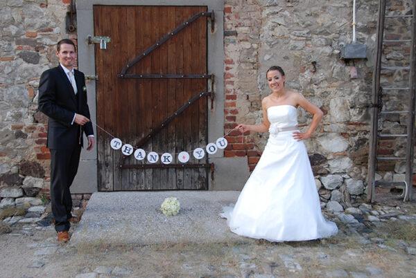 thank you garland renna deluxe wedding hochzeit girlande