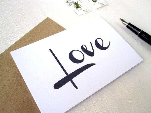 Love, Liebe, karte mit Handschrift, Calligraphie, Typographie,von renna deluxe