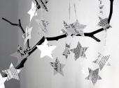 Stern Girlande mit Schrift Buchstaben schwarz weiss von renna deluxe