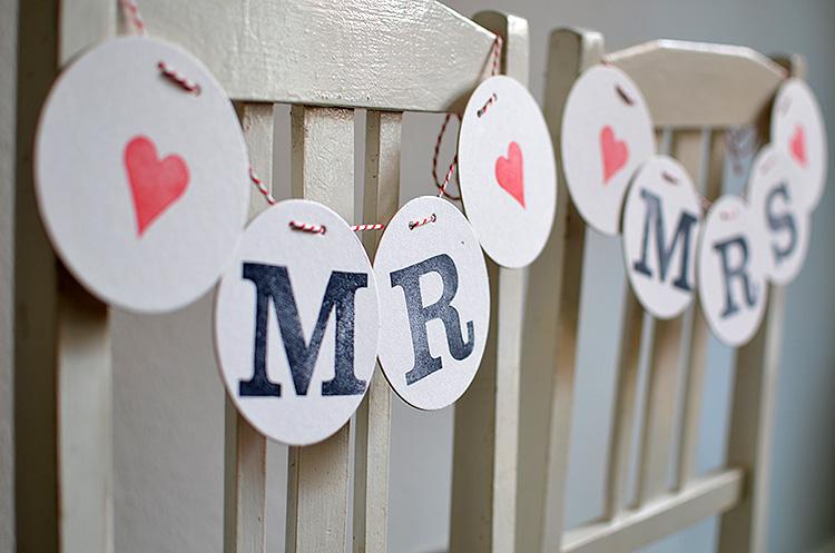 stuhldekoration mr und mrs girlande chair decoration wedding mr & mrs renna deluxe