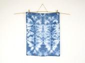 Shibori Küchenhandtuch geschirrtuch tea towel dish cloth indigo