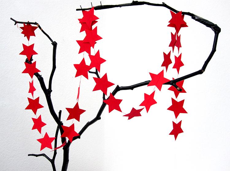 stern girlande rot star garland red