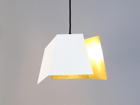 gold lamp shade haengeleuchte renna deluxe