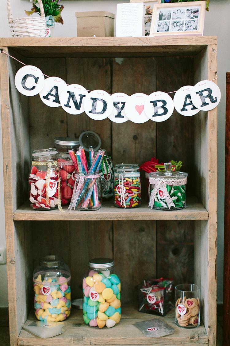 candybar candy bar girlande garland renna deluxe rustic