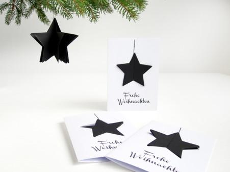Frohe Weihnachten Weihnachtskarte mit Stern