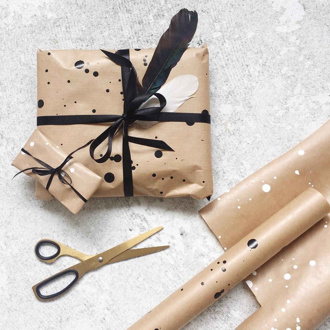 weihnachten renna deluxe geschenkpapier mit sprenkeln