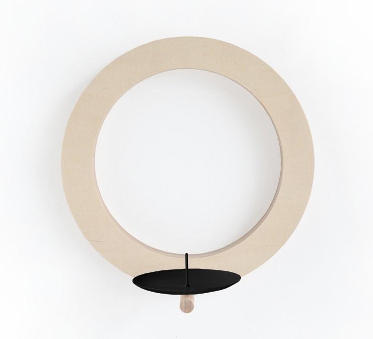 wandkerzenhalter aus holz modern zeitlos und raffiniert. Black Bedroom Furniture Sets. Home Design Ideas